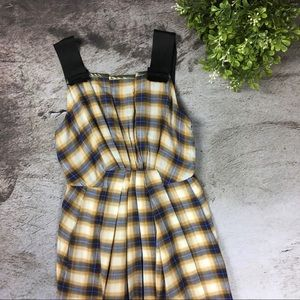 NWOT Marc Jacobs Plaid Sleeveless A Line Dress